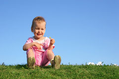 Baby on grass Royalty Free Stock Photo