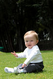 Baby on a grass Royalty Free Stock Photos