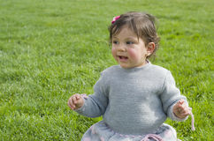 Baby on grass Royalty Free Stock Photos