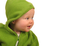 Baby In Green Stock Photos