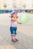 Baby green balloon Royalty Free Stock Images