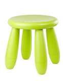 Baby green plastic stool Royalty Free Stock Images
