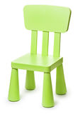Baby green plastic stool on a white background Royalty Free Stock Images