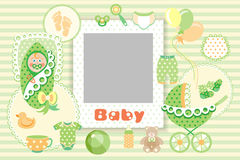 Baby green Set Stock Photos