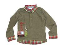 Baby Green Shirt, isolate Royalty Free Stock Photos