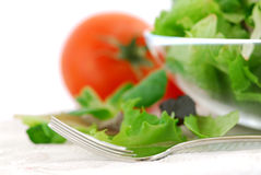 Baby greens and tomatoes Royalty Free Stock Image