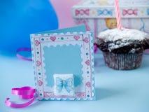 Baby greeting card Royalty Free Stock Photo