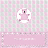 Baby greeting card with bear Royalty Free Stock Photography