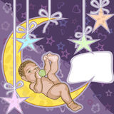 Baby greeting card. Royalty Free Stock Image