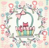 Baby greeting card Stock Image