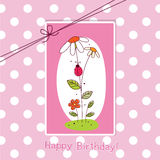 Baby greeting card Stock Images