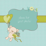 Baby Greeting Card with Photo Frame Stock Photography