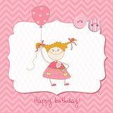 Baby Greeting Card with Photo Frame. Wonderful Baby Greeting Card with Photo Frame and place for your text in vector illustration
