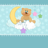 Baby greetings card Royalty Free Stock Photo