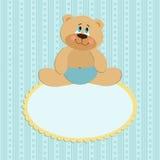 Baby greetings card Stock Photo