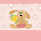 Baby greetings card Stock Photos