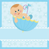 Baby greetings card Stock Photos