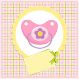 Baby greetings card Stock Photography