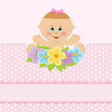 Baby greetings card Stock Photo