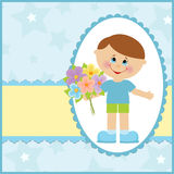 Baby greetings card Royalty Free Stock Image