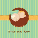 Baby greetings card Stock Images