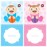 Baby Greetings card Royalty Free Stock Photos