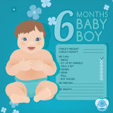 Baby growth infographic Stock Photography