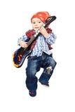 Baby guitarist Stock Image