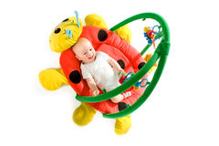 Baby gym isolated Royalty Free Stock Photo