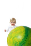 Baby and gymnastic ball Royalty Free Stock Photo
