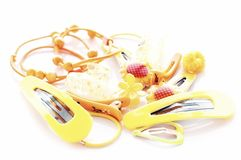 Baby hair clips Royalty Free Stock Images