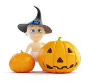 Baby halloween pumpkin Stock Images