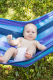 Baby in a hammock Stock Photos