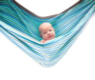 Baby in hammock Stock Photos