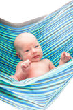 Baby in hammock Royalty Free Stock Photos