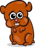 Baby hamster cartoon illustration Royalty Free Stock Photo