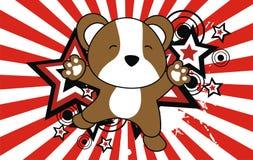 Baby hamster jumping cartoon background Royalty Free Stock Photo