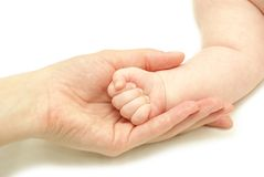 Baby hand royalty free stock image