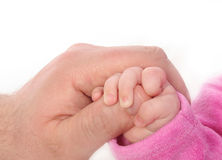 Baby hand. On a white background Stock Image