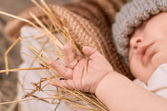 Baby hand close up. royalty free stock photography