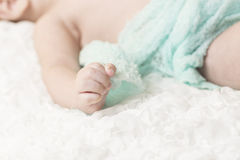Baby hand and fingers. Royalty Free Stock Photo