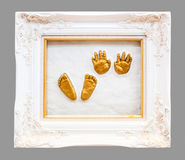Baby hand and footprint Stock Photos