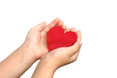 Baby hand and heart Royalty Free Stock Image