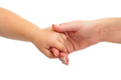 Baby hand holding mothers hand. Stock Images