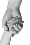 Baby hand in mother arm Royalty Free Stock Photography