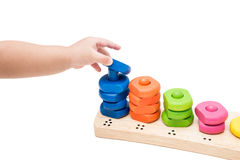Baby Hand Playing Toy Stock Images