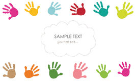 Baby hand prints and hand prints vector Stock Image