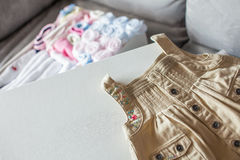Baby handkerchiefs with BB dress Stock Image