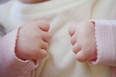 Baby hands Stock Images