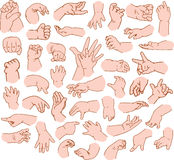 Baby Hands Pack Royalty Free Stock Images